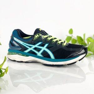 Asics GT 2000 4 Running Shoe Black Aqua Blue
